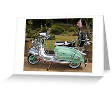 Mint Lambretta Greeting Card