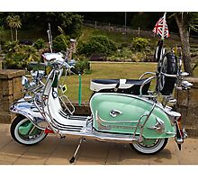 Mint Lambretta Photographic Print