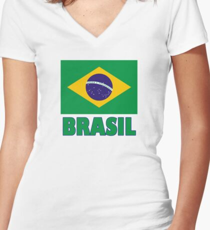 The Pride of Brazil #2 Women's Fitted V-Neck T-Shirt