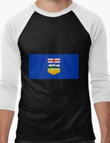 Alberta Flag Men's Baseball ¾ T-Shirt