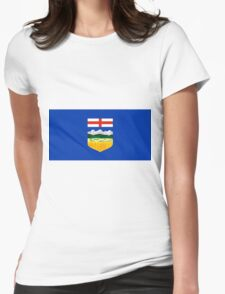 Alberta Flag Womens Fitted T-Shirt