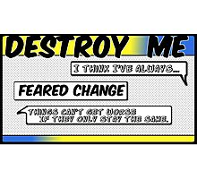 Destroy Me - Wolf Alice - Comic Style Photographic Print