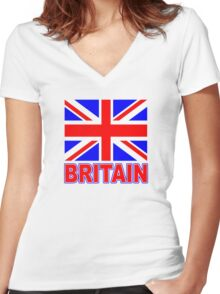 The Pride of Britain Women's Fitted V-Neck T-Shirt