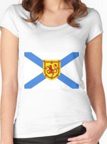 Nova Scotia Flag Women's Fitted Scoop T-Shirt