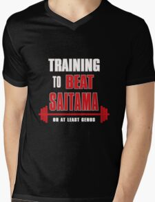 Training to beat saitama Mens V-Neck T-Shirt