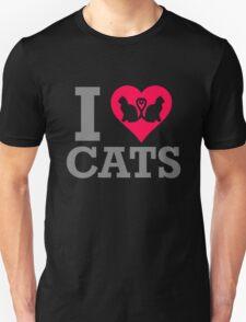 I Love My Cats Funny T-Shirt