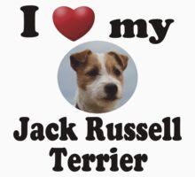 I Love My Jack Russell Terrier Kids Tee
