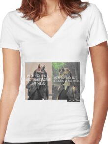 Jar Jar Binks Women's Fitted V-Neck T-Shirt