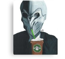 Silence in the Starbucks - Hand-drawn Canvas Print