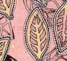 Leaves 30 Mixed Media - Ink on Acrylic Monoprint Sticker