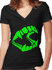 Fangs Women's Fitted V-Neck T-Shirt