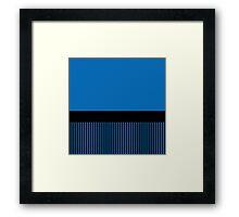Trendy Dazzling Blue Black Stripes Framed Print