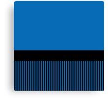 Trendy Dazzling Blue Black Stripes Canvas Print