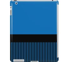 Trendy Dazzling Blue Black Stripes iPad Case/Skin