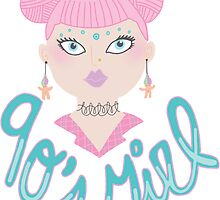 90s Girl Transparent Tumblr Girly Psychedelic Troll Magic Yin Yang Retro  by Big Kidult
