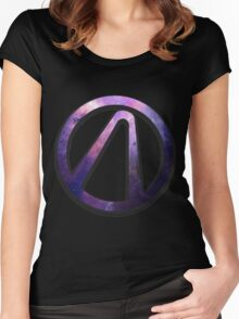 Borderlands 2 vault logo - galaxy Women's Fitted Scoop T-Shirt