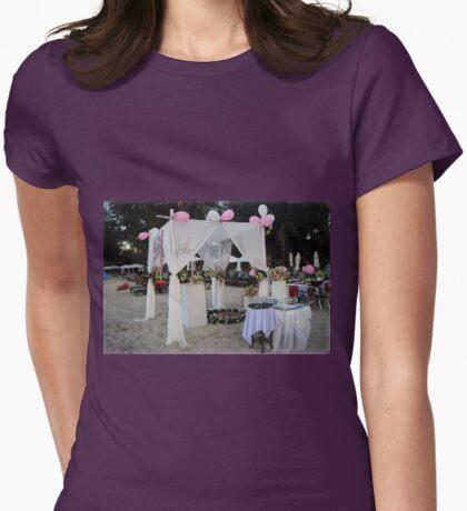 Beach Wedding Setup Womens Fitted T-Shirt