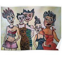 Ladies by Irene Rindje Poster