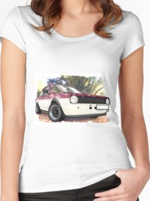VW Polo Saloon  Women's Fitted Scoop T-Shirt