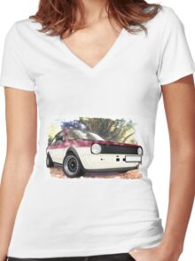 VW Polo Saloon  Women's Fitted V-Neck T-Shirt