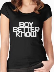 Boy Better Know T-Shirt Women's Fitted Scoop T-Shirt