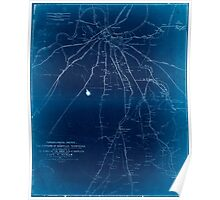 Civil War Maps 1861 Topographical sketch of the environs of Nashville Tennessee Inverted Poster