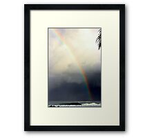 Rainbow Storm Front Framed Print