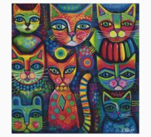 8 Colourful cats  Kids Clothes