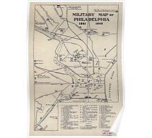 Civil War Maps 1128 Military map of Philadelphia 1861-1865 Poster