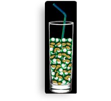 Mario Up Energy Drink glass Canvas Print