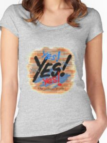 Yes! The Answer's Yes! Women's Fitted Scoop T-Shirt