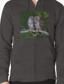 Two Barred Owl Fledglings Perched Above Resaca T-Shirt