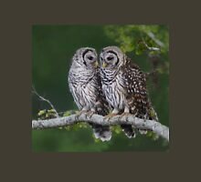 Two Barred Owl Fledglings Perched Above Resaca Unisex T-Shirt