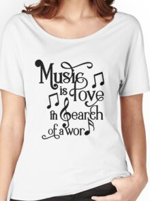 Music is love in search of a word Women's Relaxed Fit T-Shirt