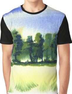 English Countryside Graphic T-Shirt