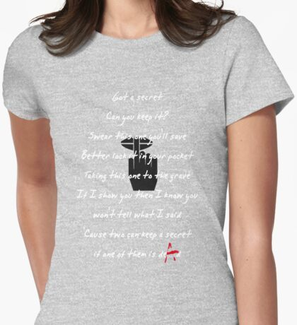 PRETTY LITTLE LIARS- Song Womens Fitted T-Shirt