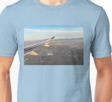 Flying to LA - Southern California's Sprawling Metropolis from a Plane Unisex T-Shirt