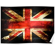United Kingdom Flag Grunge Poster
