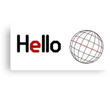 Hello World Canvas Print