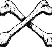 Crossbones illustration by antonkarlik
