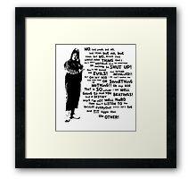 Little Britain - Vicky Pollard Framed Print