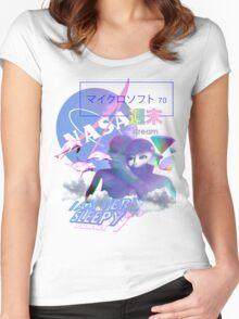 NASA Alien vaporwave aesthetics Women's Fitted Scoop T-Shirt