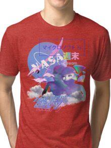 NASA Alien vaporwave aesthetics Tri-blend T-Shirt