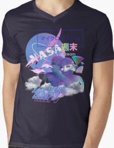 NASA Alien vaporwave aesthetics Mens V-Neck T-Shirt