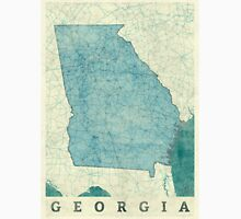 Georgia State Map Blue Vintage Unisex T-Shirt