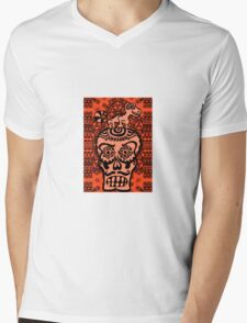 LIZARD ON SKULL Mens V-Neck T-Shirt