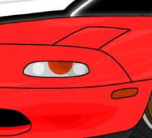 Convertible red japan car Sticker
