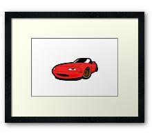 Convertible red japan car Framed Print