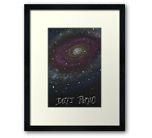 Don't Panic - The Hitchhiker's Guide to the Galaxy Framed Print