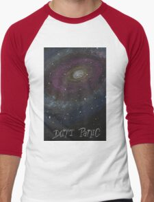 Don't Panic - The Hitchhiker's Guide to the Galaxy Men's Baseball ¾ T-Shirt